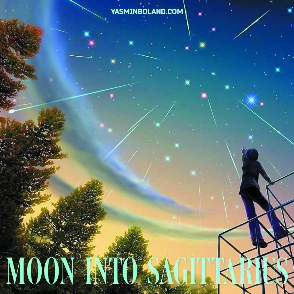 Daily Moon into Sagittarius