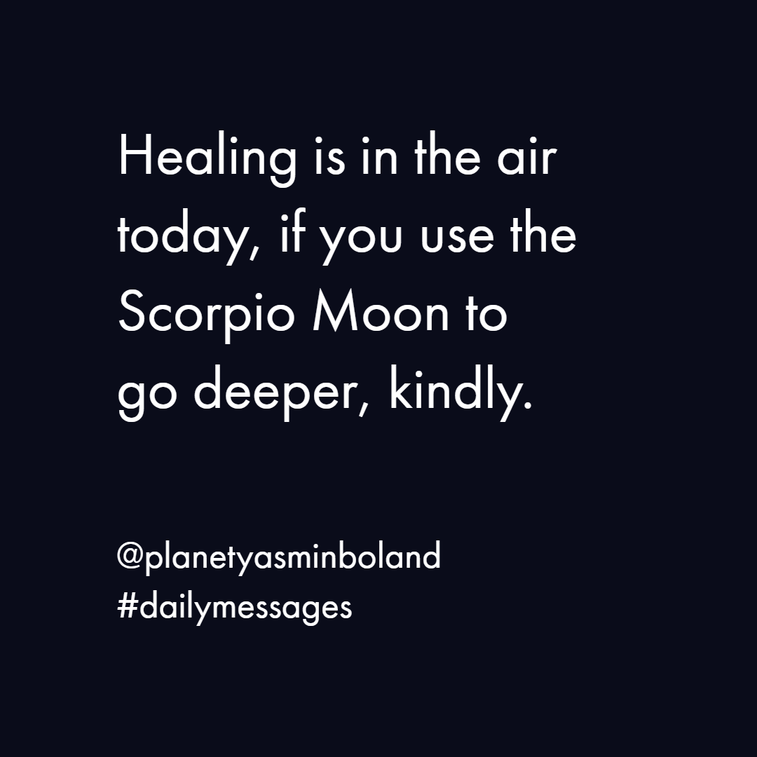 Healing is in the air today