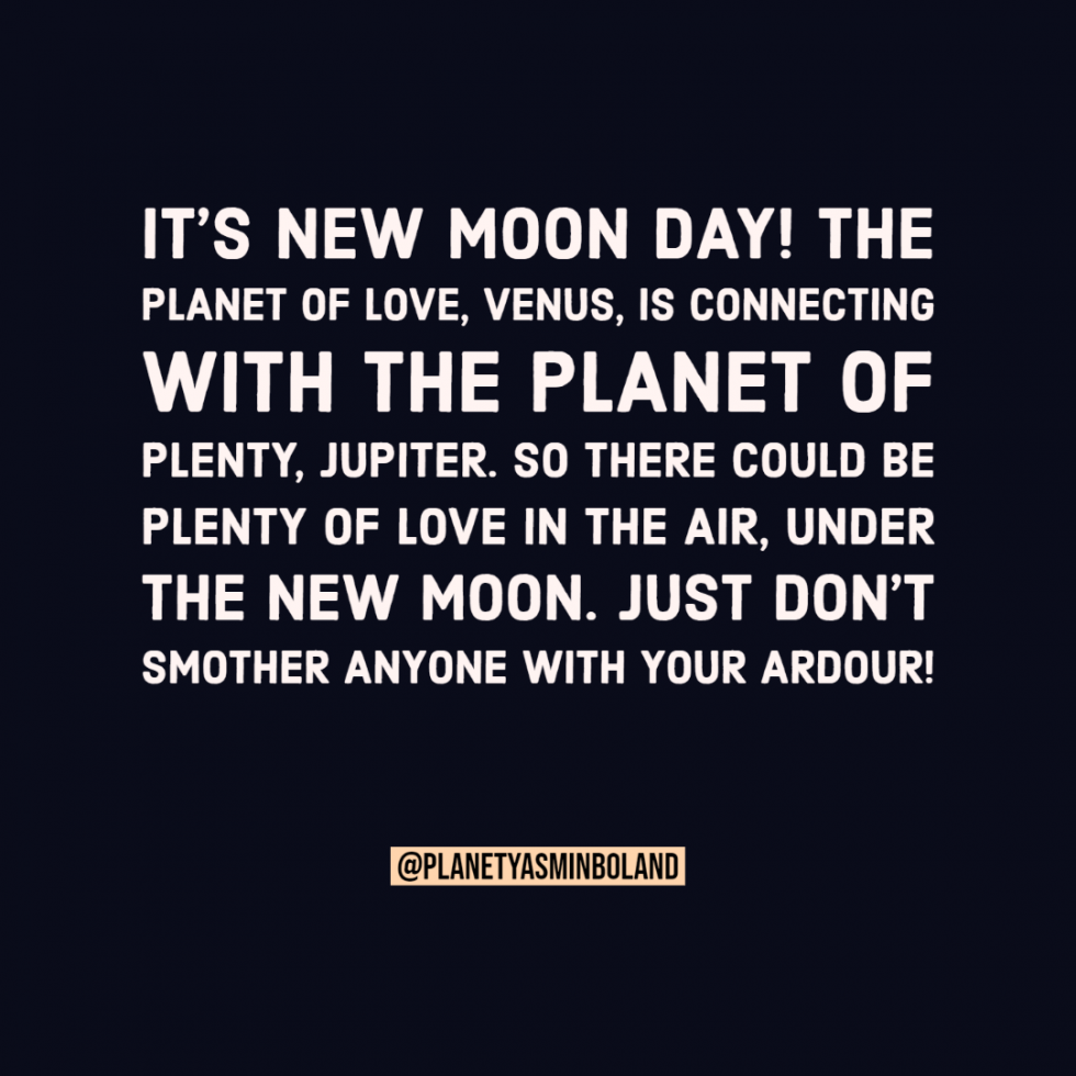 It's new moon day!