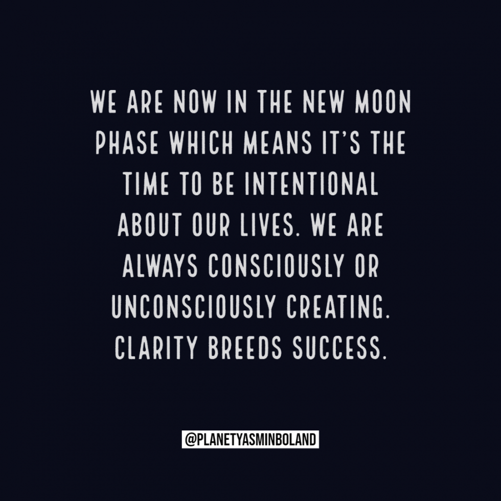 We are now in the New Moon