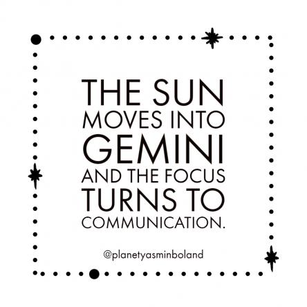 The Sun moves into Gemini