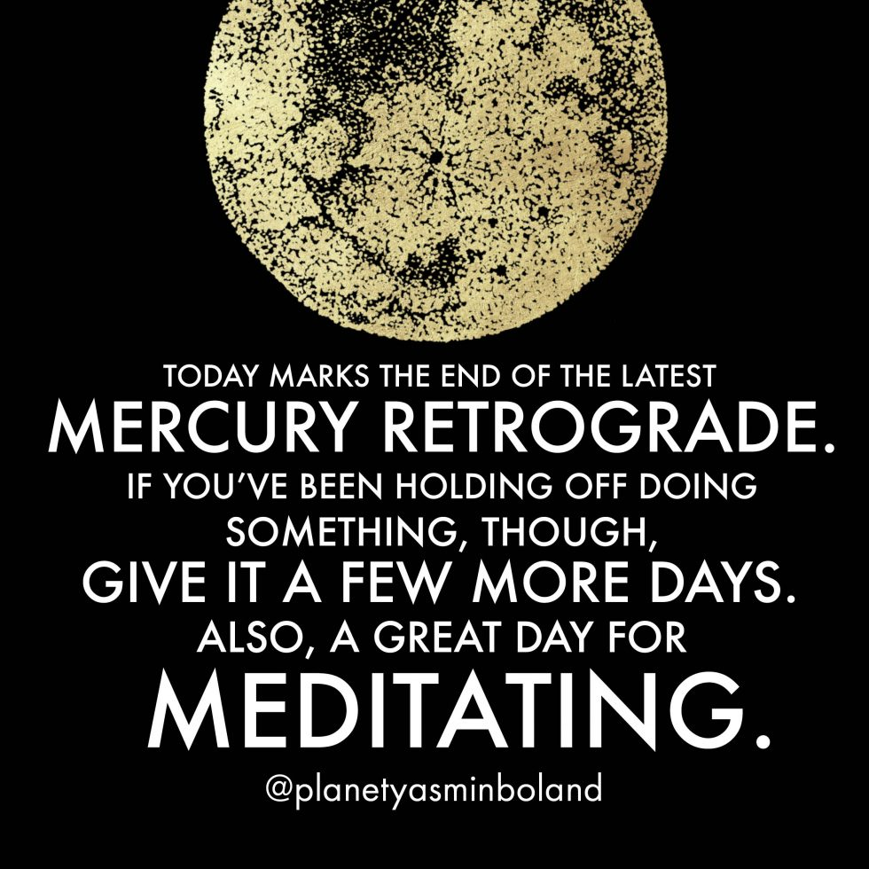 Today marks the end of the latest Mercury retrograde