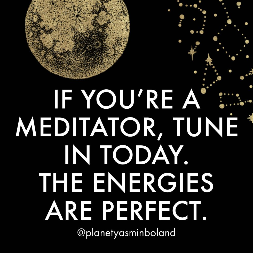 If you're a meditator