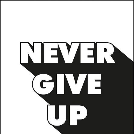 I don't know who needs to hear this – but don't give up!