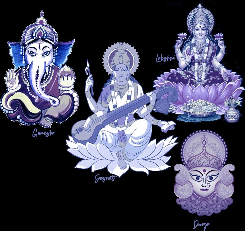 Ganesha-Lakshmi-Saraswati