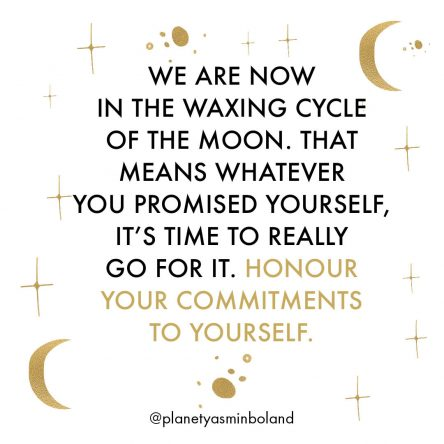 We are now in the Waxing cycle of the Moon